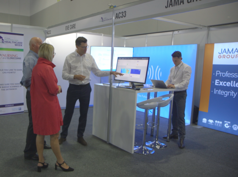 Calumino and Jama Group celebrated the soft launch of Eve Care at the 9th Australian Healthcare Week in March 2019